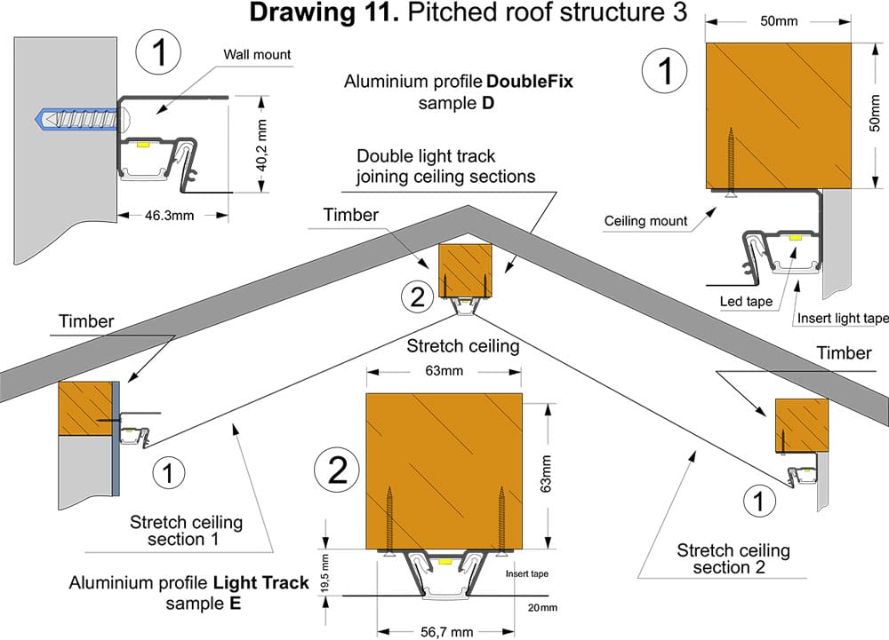 pitched roof structure