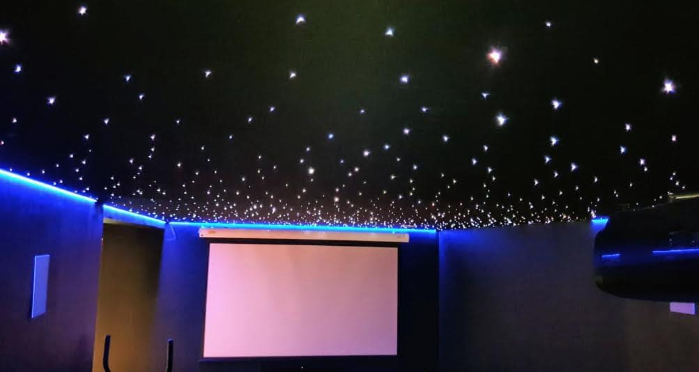 Acoustic Ceiling with Fiber Optic Sparkling Night Sky