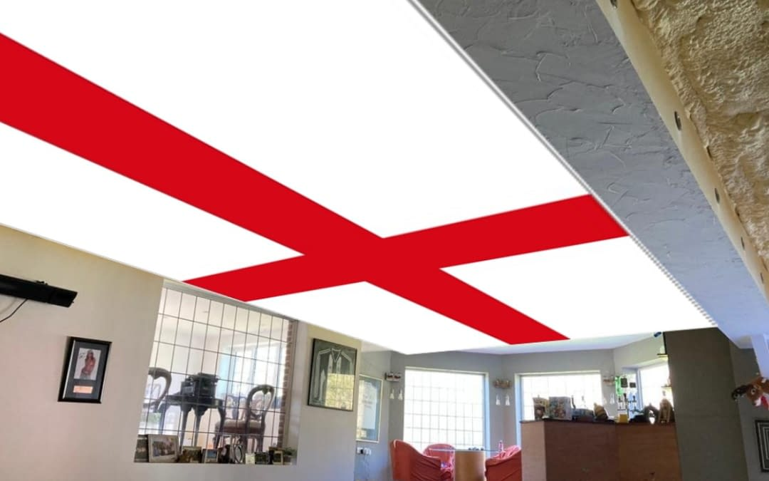 England Wales & Scotland Flags on your Ceiling