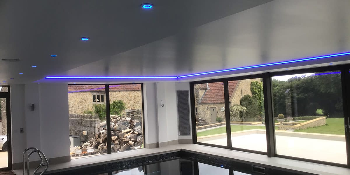 strech ceiling for swimming pool