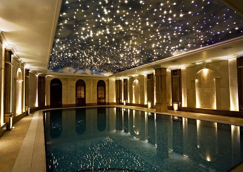 Stars in Night Sky Swimming Pool Stretch Ceiling