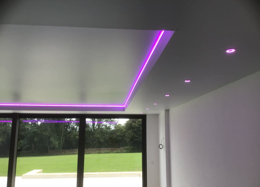 Double LED Light Stretch Ceiling Track