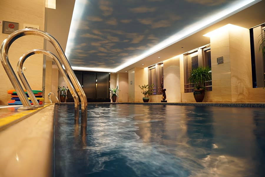 Stretch Ceiling swimming pool