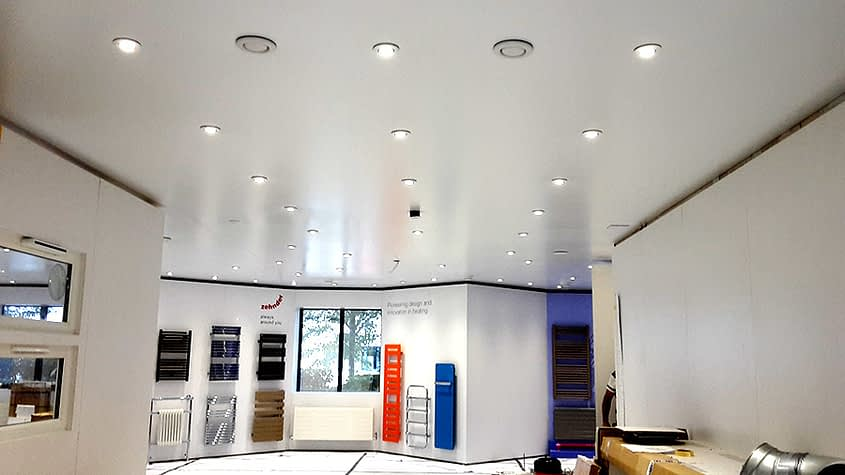 zehnder showroom ceiling